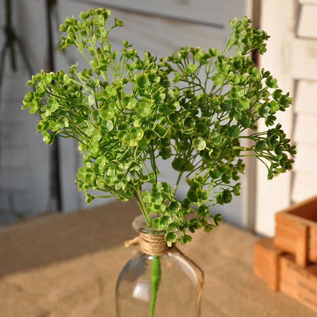 DIY Artificial Babys Breath Flower Green Leaf Artificial Succulent Plants Gypsophila Fake Flores for Wedding Home Decorations