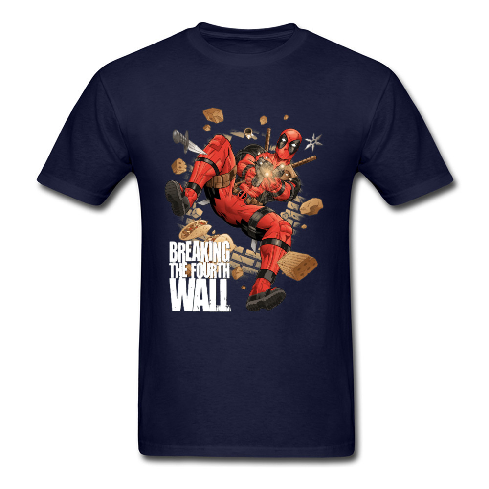 Mens Top T-shirts Breaking The Fourth Wall 1226 Design Tops T Shirt 100% Cotton O Neck Short Sleeve Custom T Shirt Labor Day Breaking The Fourth Wall 1226 navy