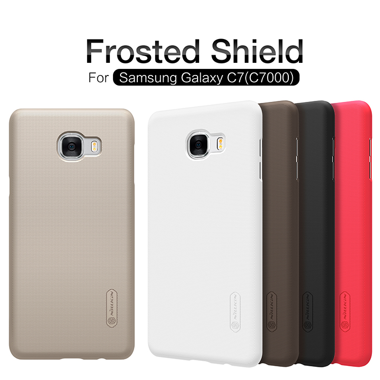 """10pc/lot Wholesale Nillkin Super Frosted Shield Case Back Cover For Samsung Galaxy C7 C7000 (5.7"""") Plastic Hard Back Cover Case"""