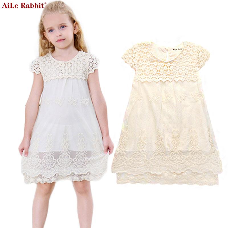 AiLe Konijn Meisjesjurk Zomer Kinderkleding Kant Prinsesjurk - Kinderkleding