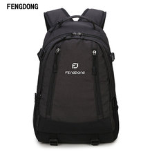 Fengdong Lightweight Slim Business Laptop Backpack for Men Water Resistant Computer Backpacks 17 Inch Traveling Bags
