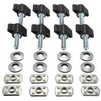 1 Set Universal Hard Top Quick Removal Nut Screws Washers For Jeep Wrangler YJ TJ JK