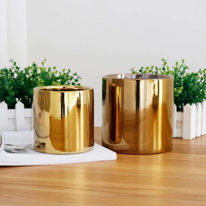 Deko wohnzimmer vasen gold  Aliexpress.com : Plating Gold/silber keramik vase wohnzimmer ...