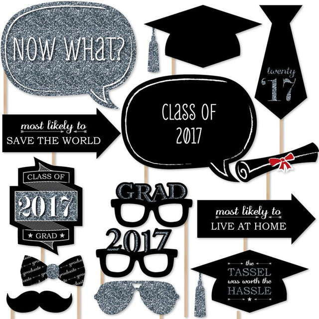 23 Pcs Graduation Party Decor Set