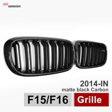 X5 X6 Carbon Fiber Framed Dual Slat Grill Front Kidney Grille Fit for BMW F15 F16