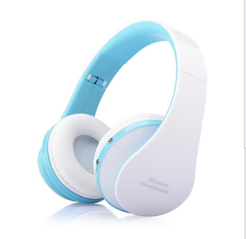 MidCreat 8252, беспроводная Bluetooth гарнитура, складные наушники, Bluetooth наушники, шумоподавление с микрофоном для спортивной музыки - Цвет: Синий