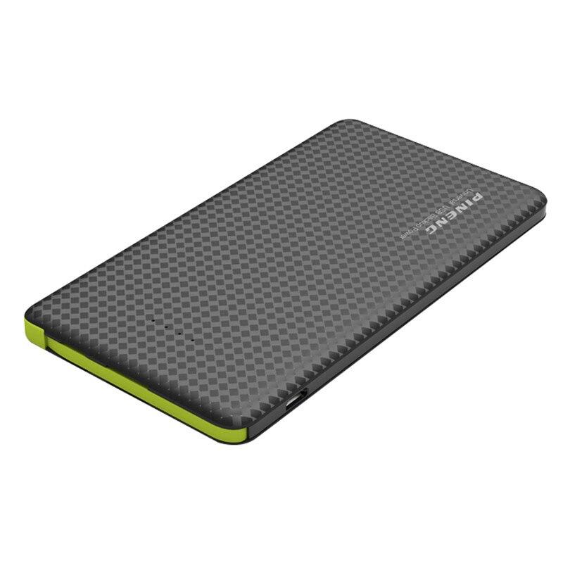 imágenes para Original pineng 5000 mah portátil cargador universal dual usb powerbank externa de la batería móvil para smartphone
