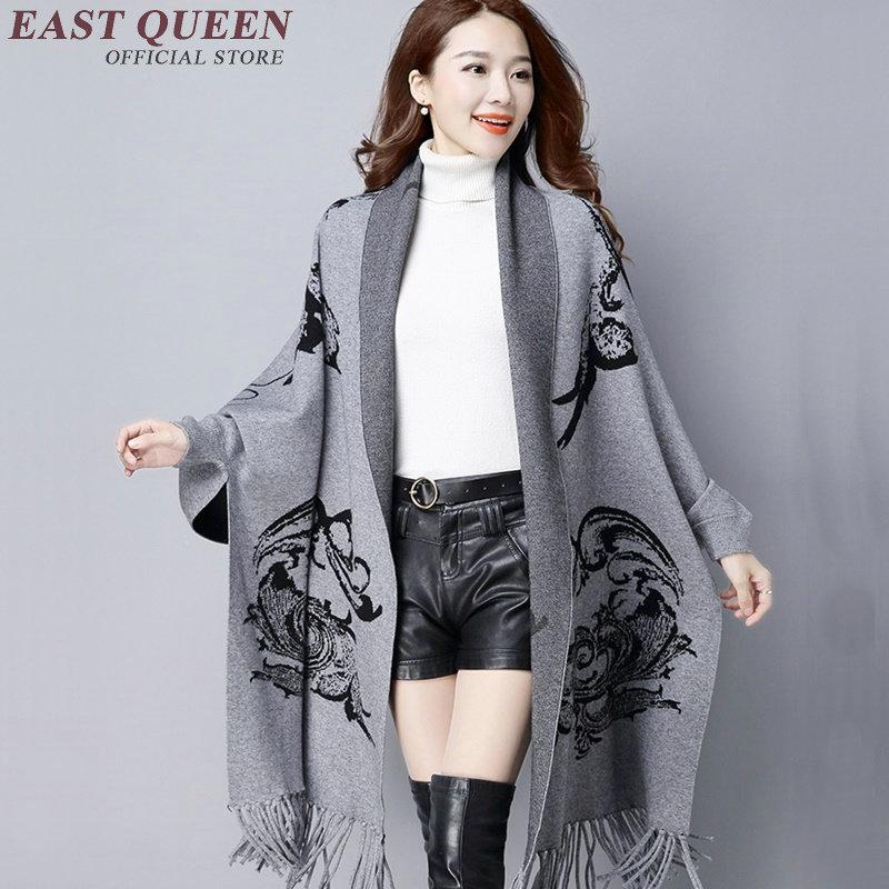 Chandail surdimensionné élégant manches chauve-souris tricoté cardigan gland long cardigan feminino tricots chandail XXXL AA2709 YQ