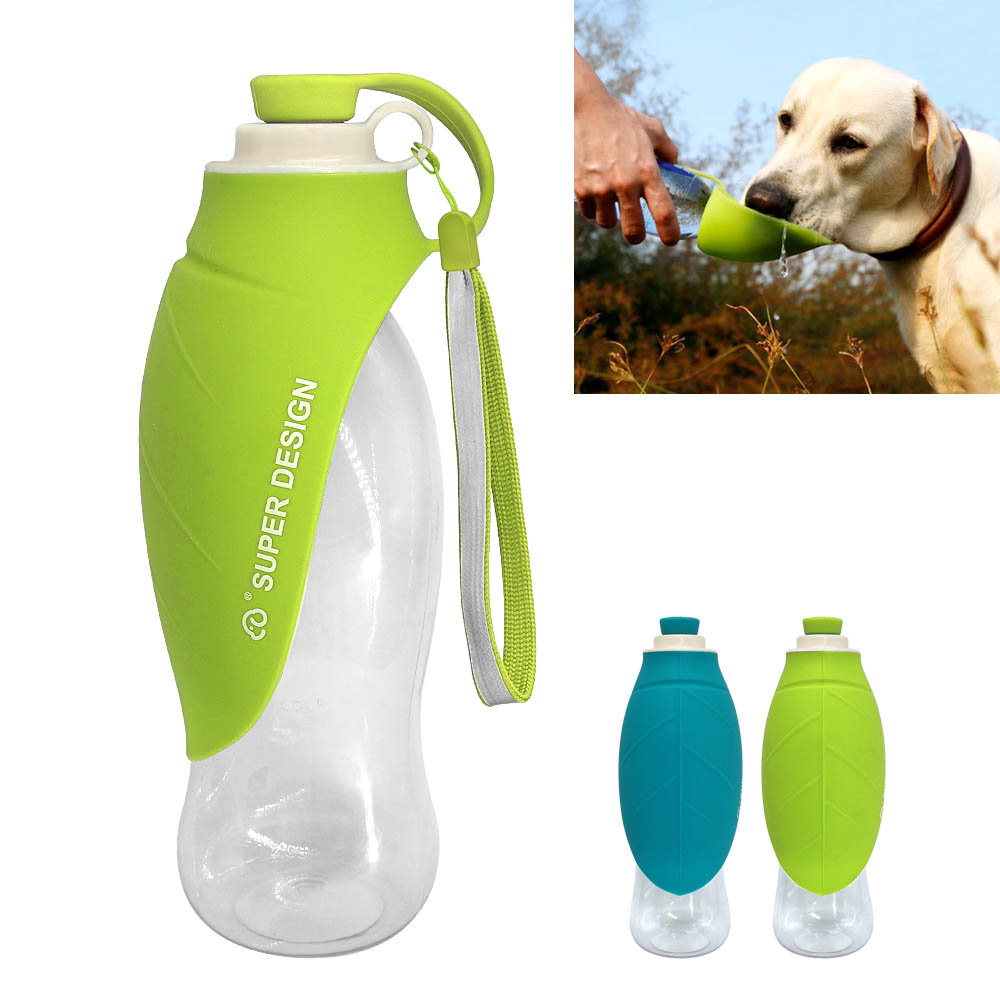 580ml Sport Portable Pet Dog Water Bottle Expandable Silicone Travel Dog Bowl For Puppy Cat Drinking Outdoor Water Dispenser