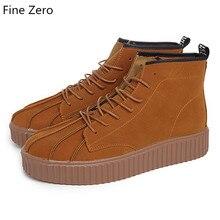 Новинка; обувь для скейтбординга на массивной подошве с закрытым носком; кроссовки для мужчин; спортивная обувь с высоким берцем; спортивная обувь на шнуровке; уличная прогулочная обувь