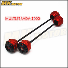 Free shipping For DUCATI MULTISTRADA 1000  2003-2009 CNC Modified Motorcycle Front and rear wheels drop ball / shock absorber