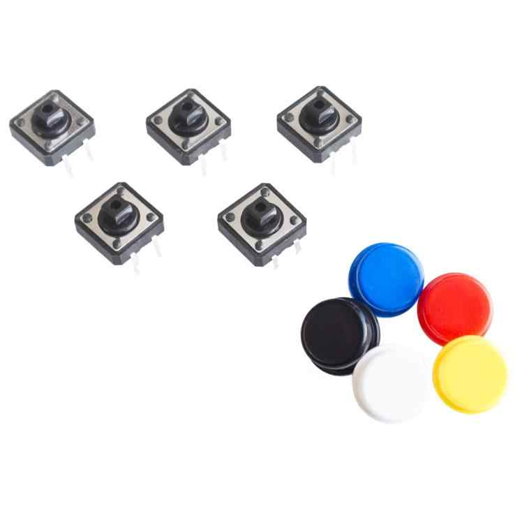 20SETS/LOT 12X12MM Big key module Big button module Light touch switch module with hat High level output for arduino usb