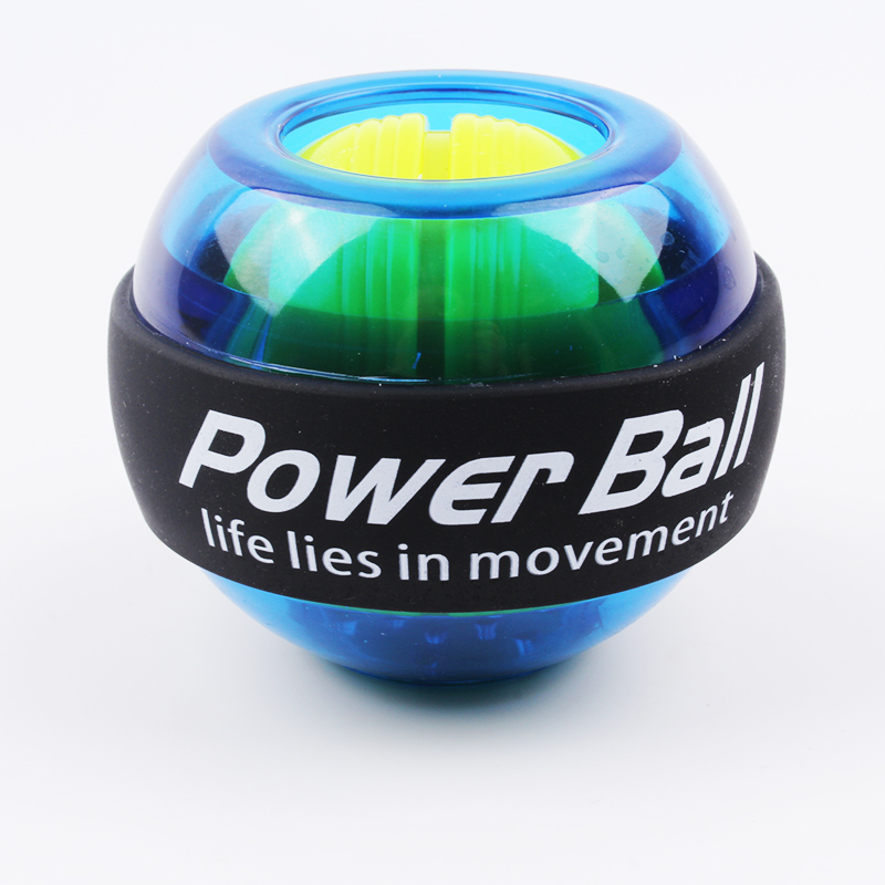 Rainbow LED Muscle Power Ball Wrist Ball Trainer Relax Gyroscope PowerBall Gyro Arm Exerciser Strengthener Fitness Equipments