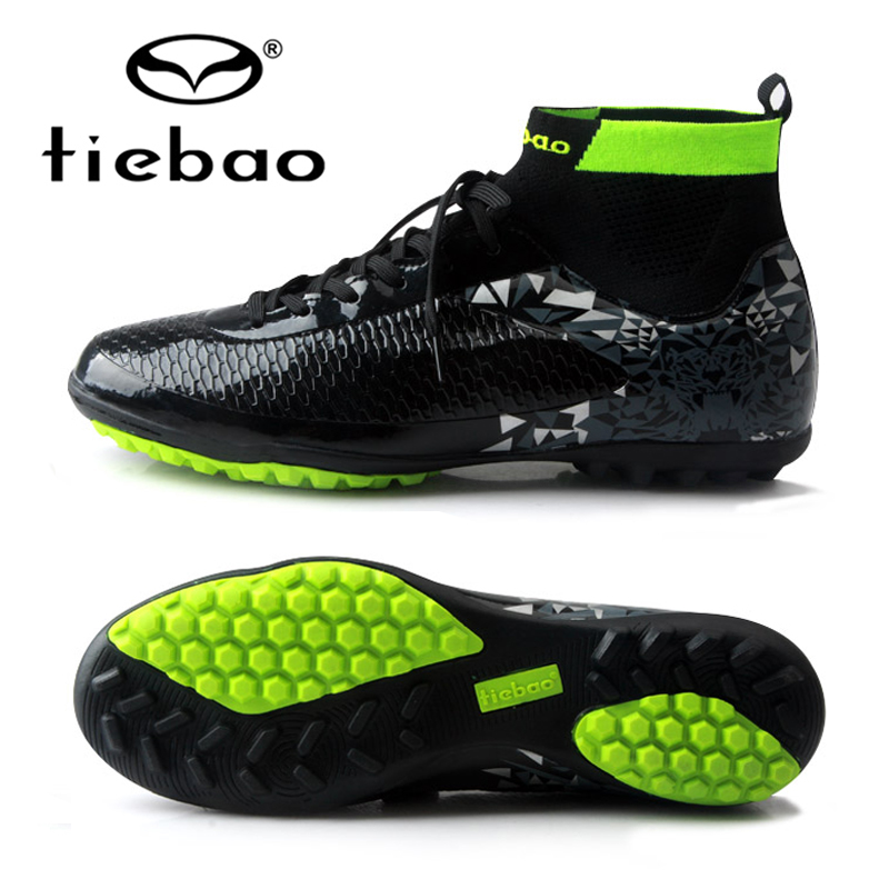 47b011ee5646 TIEBAO 2018 New Professional Soccer Football Shoes Mens Sneakers Indoor TF  Turf Non-slip Ankle