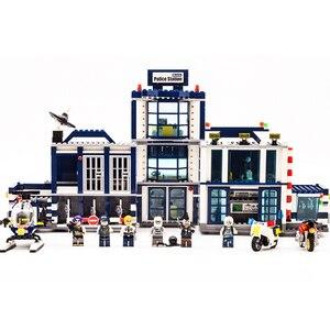 Image 3 - 951 pçs cidade polícia 60141 móvel polícia estação blocos de construção tijolo swat cidade caminhão carro navio helicóptero legoness modelo brinquedo presente