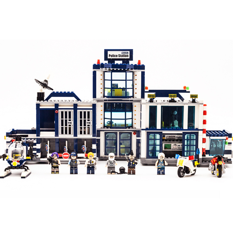 Image 3 - 951pcs City Police 60141 Mobile Police Station Building Blocks Brick SWAT City Truck Car Ship Helicopter Legoness Model Toy Gift-in Blocks from Toys & Hobbies