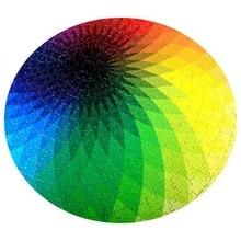 1000 pcs/set Hot Selling Colorful Rainbow Round Geometrical Photopuzzle