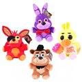 Kawaii Bonito 25 cm 4 FNAF das Cinco Noites No Freddy Freddy Foxy Fazbea Vida ursinho de pelúcia Tamanho Raposa Brinquedos De Pelúcia Boneca Livre grátis