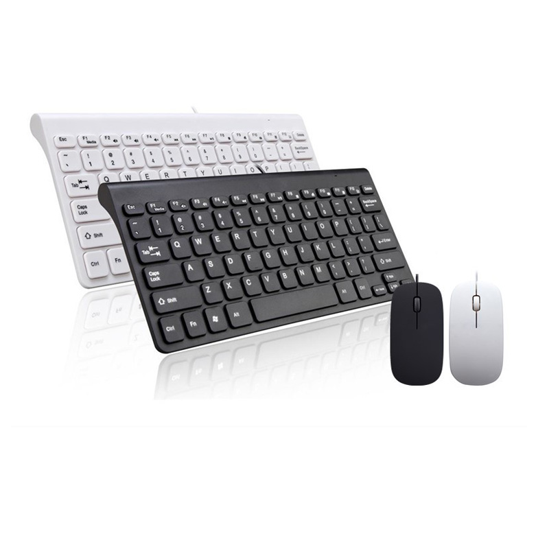 Landas USB Wired Keyboard Mouse Combo For Desktop Computer 78 Keys Wired Keyboard And Mouse For Mac book Laptop Notebook Office