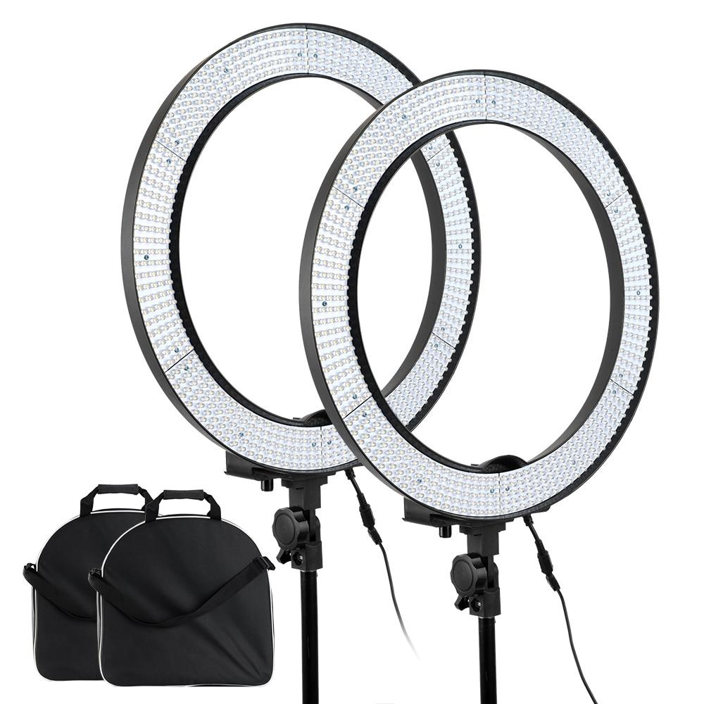 bilder für Professionelle LA-650B Stufenlos Einstellbar Ring 600 Led-videoleuchte Portrait Fotografie mit Diffusor + 1/4 Schraube Adapter