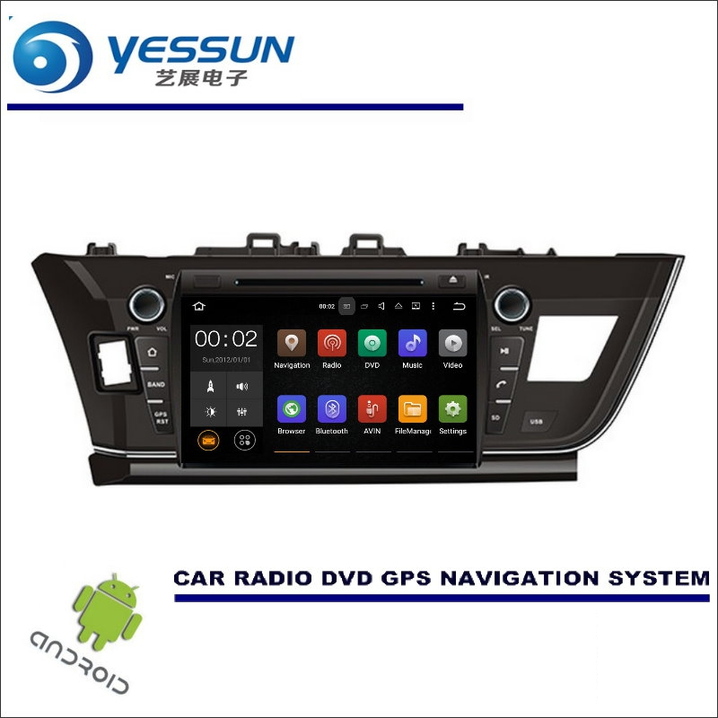 YESSUN For Toyota Corolla 2013~2017 LHD CD DVD GPS Player Navi Radio Stereo HD Screen Car Multimedia Navigation Wince / Android