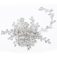 1pc Crystal Twig Style Hair Comb Beautiful Women Hair Accessories Party Hair Decoration Wedding Tiara Bridal