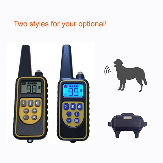 RT880 Výcvikový obojek pro psa Nabíjecí vodotěsný 800m dálkový šok s vibracemi pro pípnutí a elektronickým nastavitelným límcem