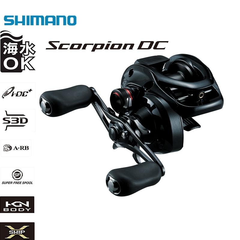 SHIMANO SCORPION DC100/101/100HG/101HG 7 + 1 BB 6.3/7.2: 1 rapport de vitesse X-SHIP poignée droite/gauche Baitcasting moulinet de pêche en eau salée