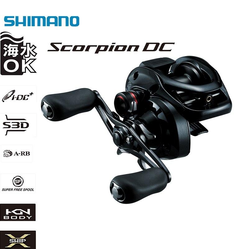 SHIMANO SCORPION DC100/101/100HG/101HG 7 + 1 BB 6.3/7.2: relação da engrenagem 1 X-SHIP Direita/Esquerda Handle Baitcasting Carretel de Pesca De Água Salgada