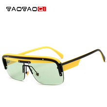 TAOTAOQI Men Luxury Sunglasses New Square Women Brand Designer Vintage Female Fashion Shades UV400