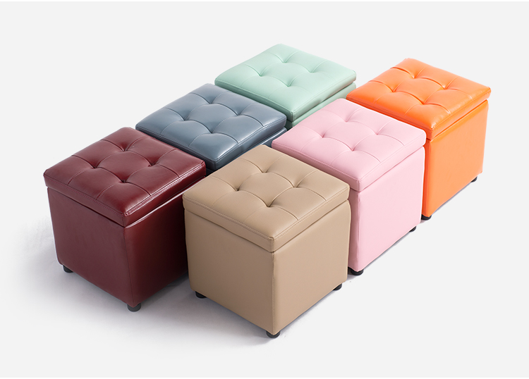 Storage stool change shoes stool sofa stool american retro nostalgia sofa stool storage stool changing his shoes stool circular fashion toy storage box clothing store furni