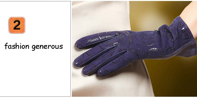 Gants D'hiver tactile Pour Femmes en Cuir véritable