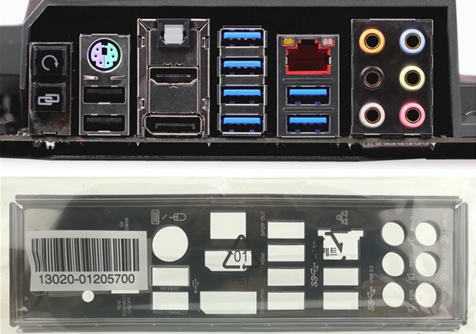 New I/O shield back plate of motherboard for ROG MAXIMUS VII FORMULA just shield backplate Free shipping