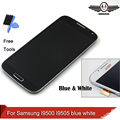 For Samsung Galaxy S4 i9500 i9505 LCD Display Touch Digitizer Screen With Frame Assembly Blue/White