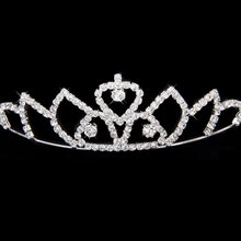 2017 NEW Wedding Bridal Headband Flower Girl Hair Jewelry Rhinestone Crown Tiara