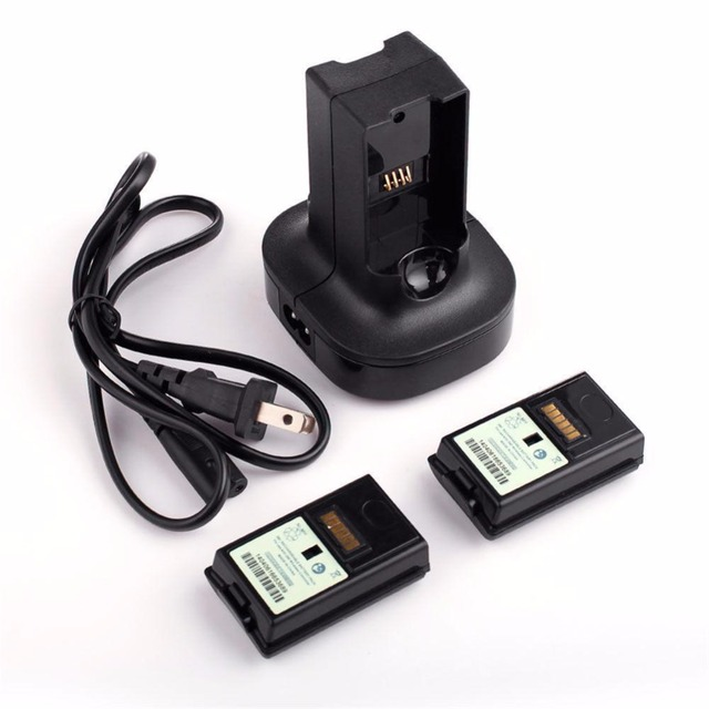 Charger Dock Base With 2X 4800mAh Rechargeable Battery Batteries For Xbox 360 A