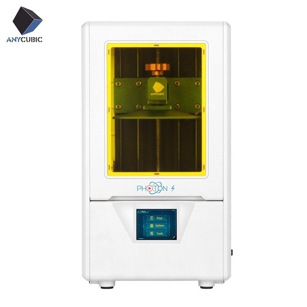 ANYCUBIC 3D Photon-S LCD Atualizado Impressora UV Módulo 405nm Matriz Luz UV Dual eixo Z SLA Impressora 3d fótons Plus Size