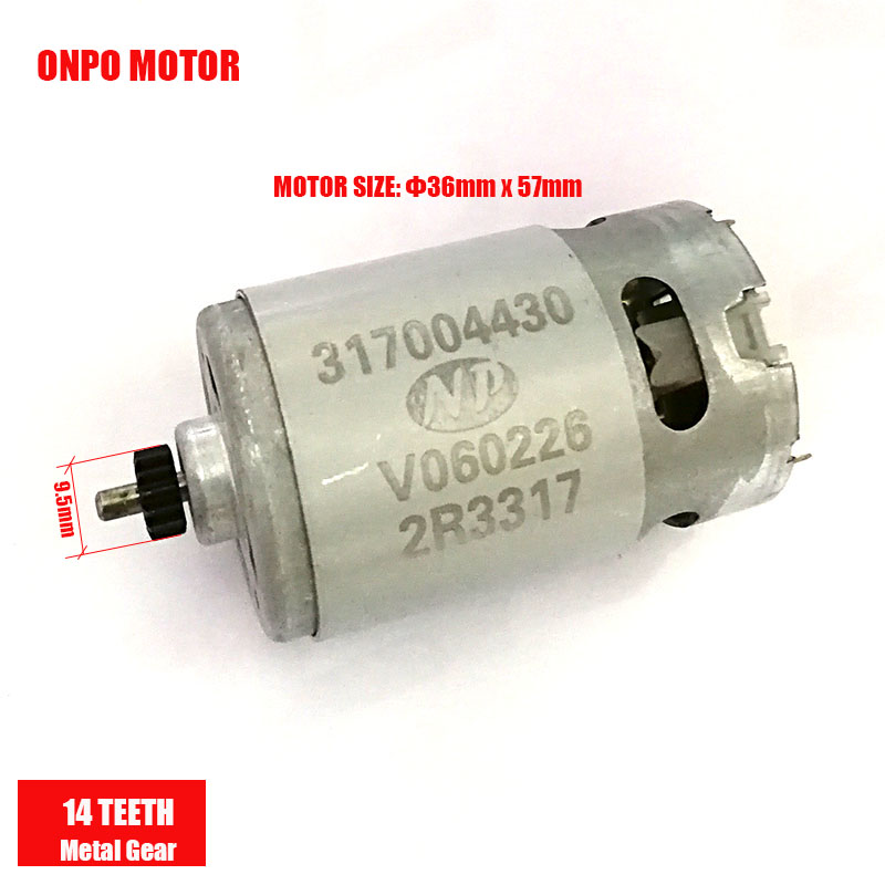 ONPO 18V 14TEETH 317004430 DC MOTOR FOR METABO BS18 Electric drill POWER TOOL PARTS