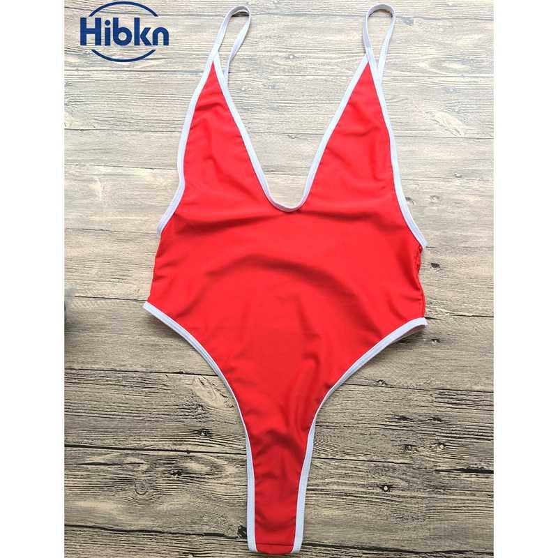 3705f422a66ef ... NEW Women sport suit solid one piece swimsuit sexy swimsuit swimwear  women high cut monokini swimming ...