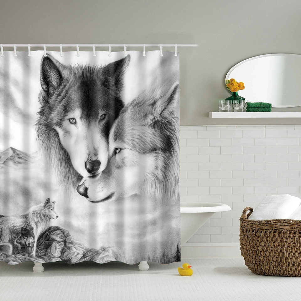 Wild Animals Shower Curtains Waterproof Bathroom Curtains Polyester  180x180cm Decoration With Hooks In Shower Curtains From Home U0026 Garden On  Aliexpress.com ...