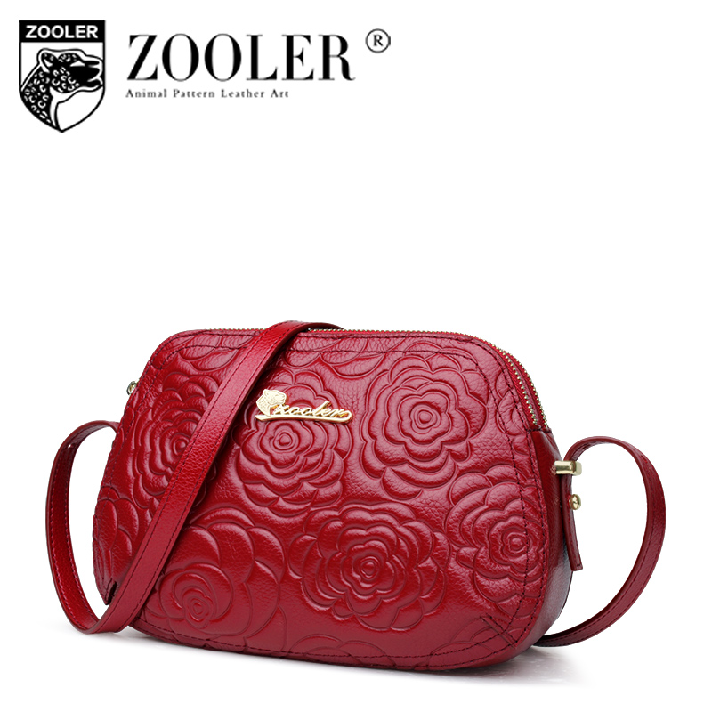 ZOOLER Fashion Genuine leather bags for women messenger bags Small Luxury crossbody bag famous brand Women shoulder bags 2355 2018 new fashion women shoulder bag plaid chain women messenger bags famous brand small crossbody purse for girl handbag luxury