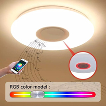 led ceiling light modern music lamp living room  bedroom with Bluetooth control Color Changing flush mount led ceiling lamp цена