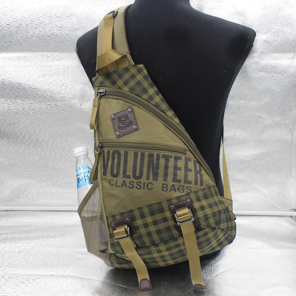 Waterproof Oxford Sling Chest Back Pack Men Day Laptop Book Travel Cliimb Cross Body Knapsack Military