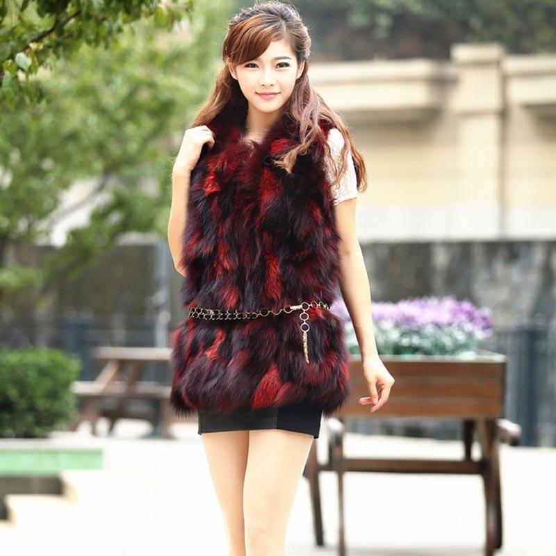 moda Real Fox Blănă Vestă Veste Căldură din blană naturală - Îmbrăcăminte femei