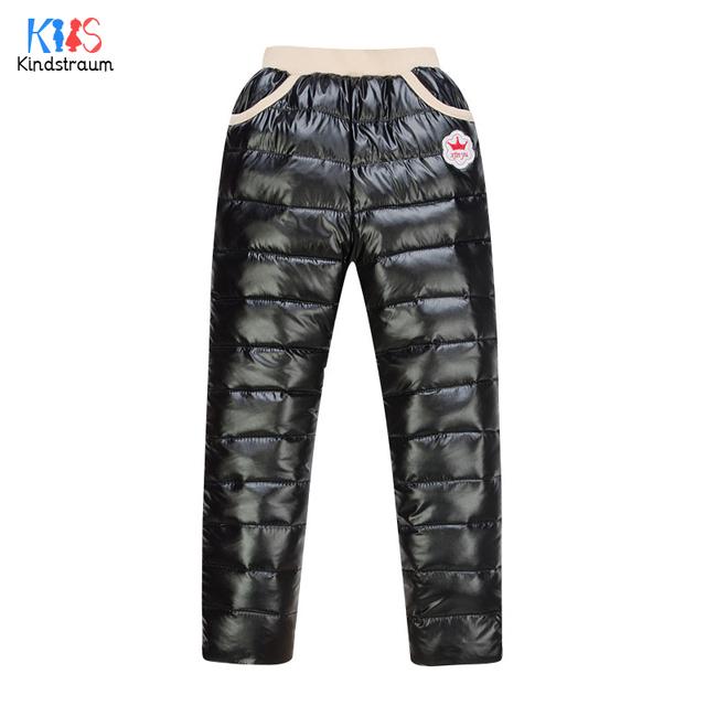 Invierno 2016 Nueva Llegada de Boys & Girls Espesar Bajó Los Pantalones niños Caliente Pantalones de Cintura Alta Solid Niños Marca de Ropa de Invierno, LC556