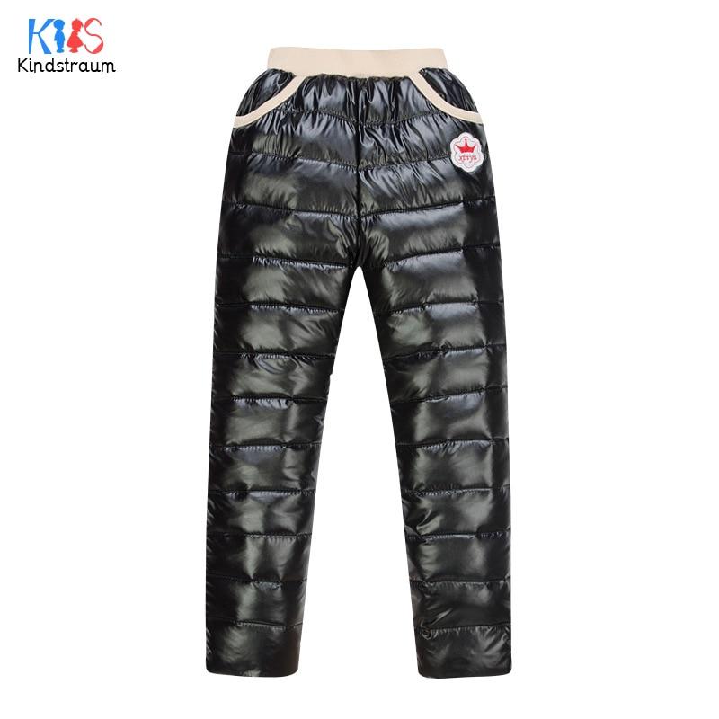 Zimní 2018 Nové příchody Chlapci a dívky zateplené kalhoty Děti teplý vysoký pas Solid kalhoty Dětské značky Zimní oblečení, LC556