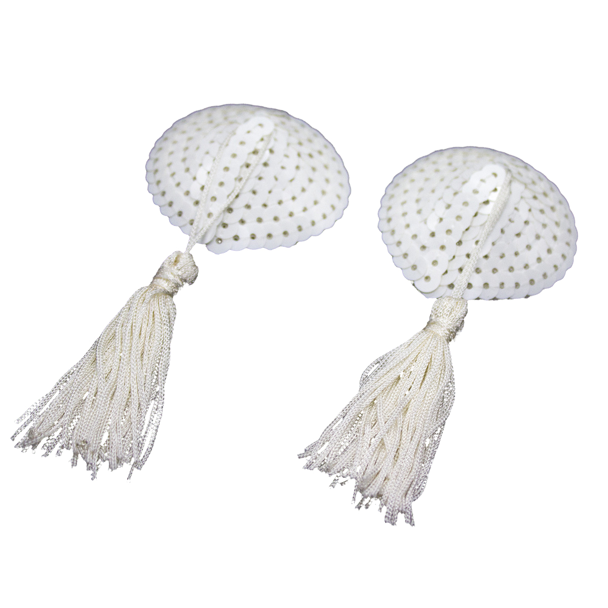 Womens Sexy Silicone Bling Sequin Heart Shaped Tassels -8829