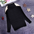 Venda quente Das Meninas Dos Meninos Das Crianças Das Crianças de Malha de Inverno Outono Pulôveres de Gola Alta Quentes Casacos Outerwear Menino KC-15479