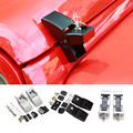 1 Pair Metal Black Silver With Lock Hood Lock Hood Latch Catch Set Fit for 2007 up Jeep Wrangler JK