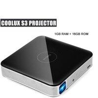 Coolux S3 проектор DLP 1500 люмен 3D 4 К 1 2,5 м дома Театр Cortex A53 1500: 1 1280x800 Автофокус умный проектор на Android